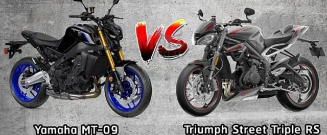Yamaha MT09 va Triumph Street Triple 765 RS 2021 tren ban can thong so