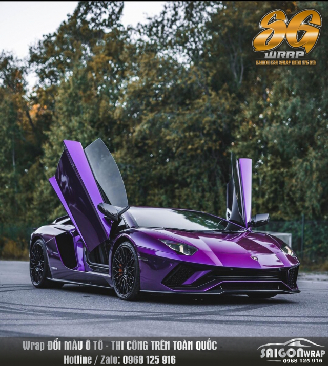 Lamborghini Do Dan Decal Mau Tim Sieu Man Ma SAIGON CAR WRAP