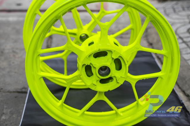 Son tinh dien mam xe may cho Winner X 150 do Decal46 thuc hien - 8