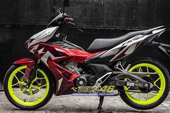 Son tinh dien mam xe may cho Winner X 150 do Decal46 thuc hien P1 - 2