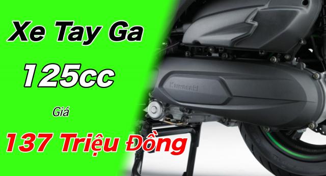 Kawasaki J125 xe tay ga 125cc co gia ban khoang 137 trieu Dong