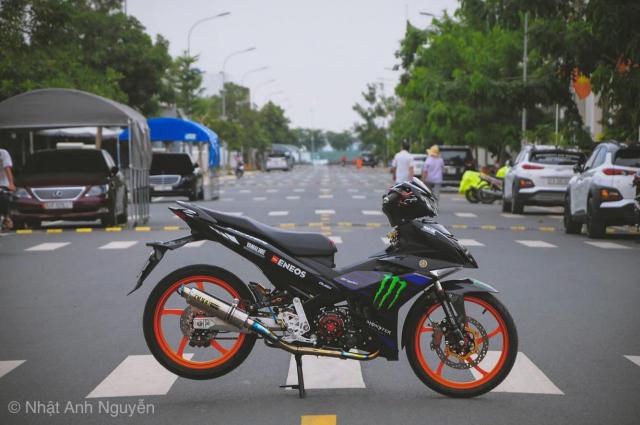Exciter 150 do kinh khung cua biker Long Xuyen