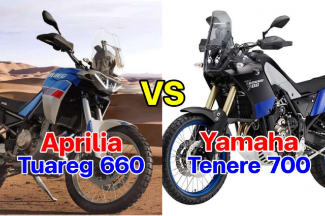 Aprilia Tuareg 660 va Yamaha Tenere 700 tren ban can thong so