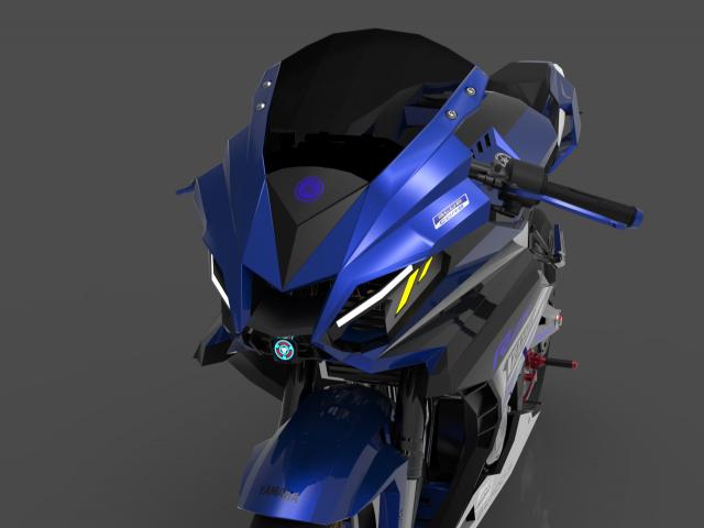 Lo dien hinh anh 3D cua Yamaha R3 2022 ngau khong tuong - 5