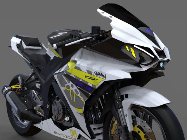 Lo dien hinh anh 3D cua Yamaha R3 2022 ngau khong tuong - 11