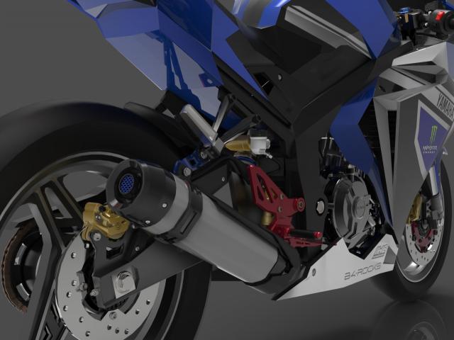 Lo dien hinh anh 3D cua Yamaha R3 2022 ngau khong tuong - 15