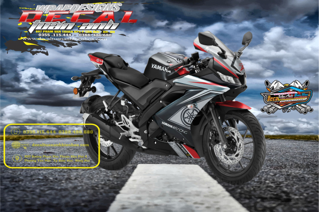 Tem Che Yamaha R15 V3 Dep Doc Tuan ANh decal WRAP Design Thi Cong Tem Xe Chuyen Nghiep - 4