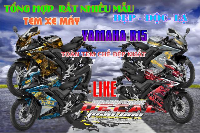 Tem Che Yamaha R15 V3 Dep Doc Tuan ANh decal WRAP Design Thi Cong Tem Xe Chuyen Nghiep - 9