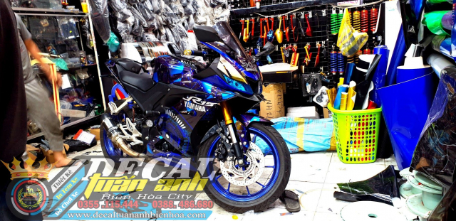 Tem Che Yamaha R15 V3 Dep Doc Tuan ANh decal WRAP Design Thi Cong Tem Xe Chuyen Nghiep - 20