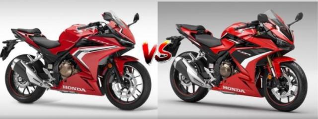 So sanh thong so ky thuat cua Honda CBR500R 2021 voi CBR500R 2022